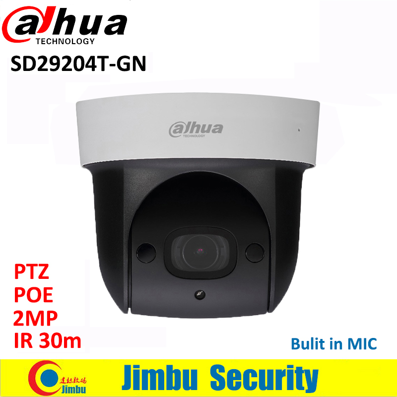Dahua SD29204T-GN Mini PTZ kamera 2MP 1080 P IP kamera IR 30 m Ağ Speed Dome 4x optik zoom İngilizce Firmware