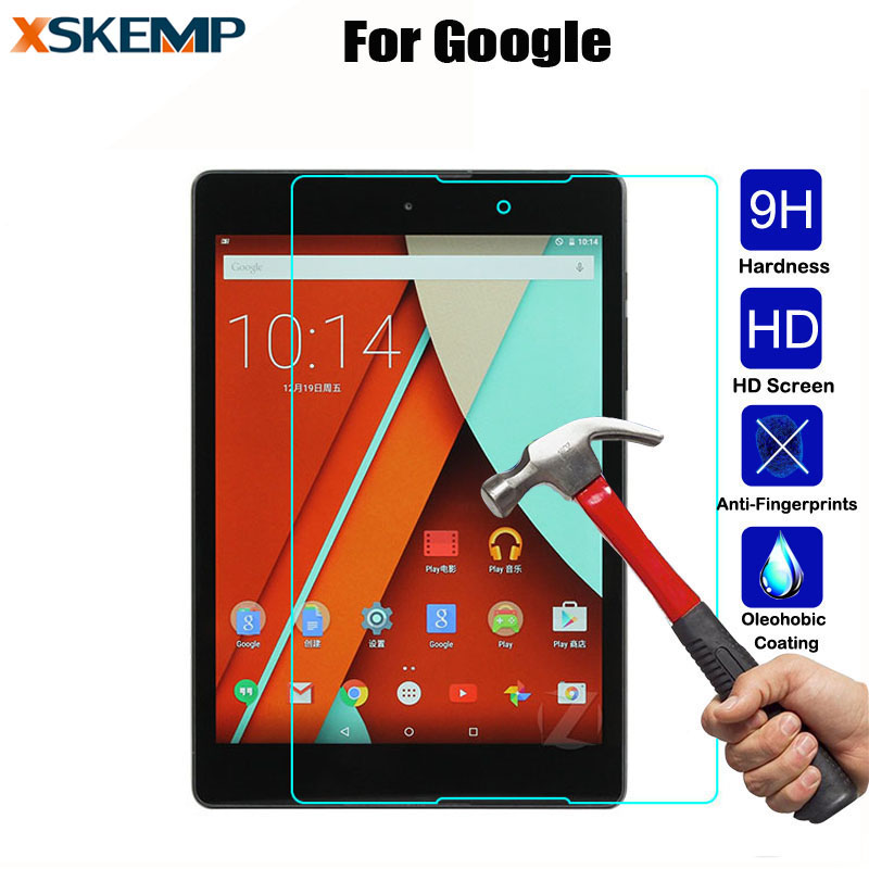 9 H 0.3 MM Temperli Cam Sertleştirilmiş LCD Için Google Piksel C Tablet Nexus 7 2nd 9 Tablet PC Film HD Clear Ekran Kapak Koruyun Guard