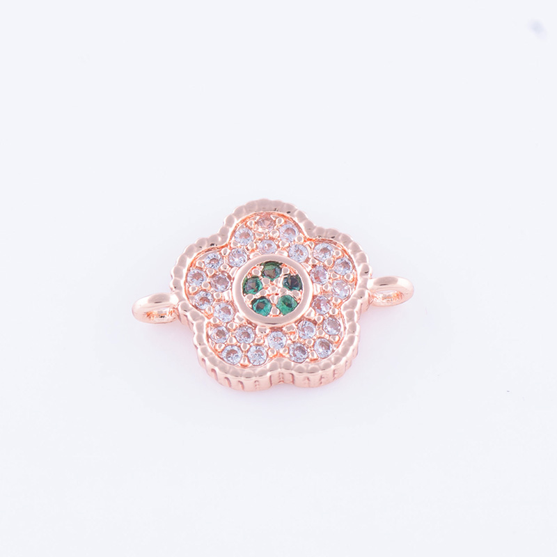 Factory Outlet Accessories Cubic Zirconia AAA Grade Zircon Jewelry Making DIY Colorful Zircon Flower Connector Wholesale